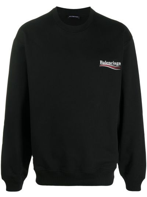 Bawełna z rękawami czarny bluza Balenciaga