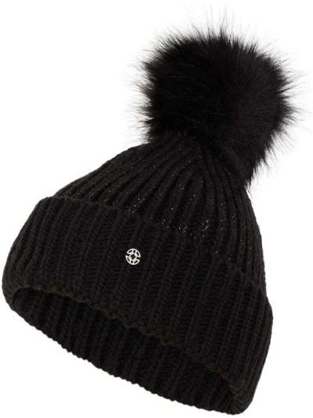 Prążkowana czarna czapka Loevenich