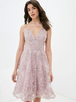Розовое вечернее платье Chi Chi London