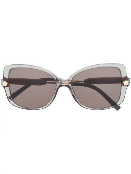 Солнцезащитные очки хаки с бабочкой Versace Eyewear