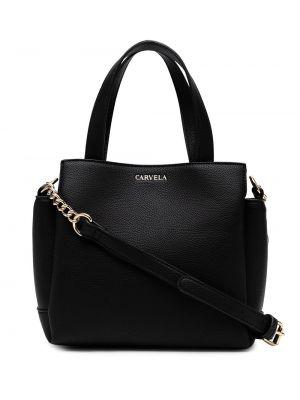 Черная кожаная сумка-тоут с карманами Carvela
