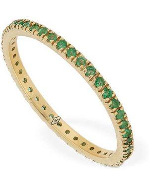 Zielony złoty pierścionek szmaragd Vanzi