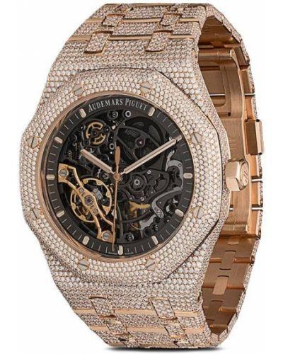 Часы механические с бриллиантом круглые 777