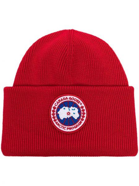 Шерстяная шапка бини - красная Canada Goose