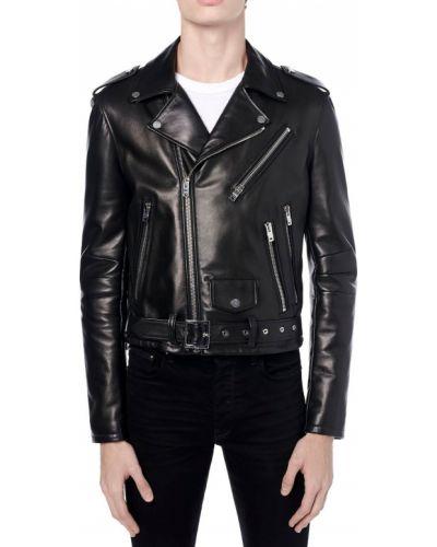 Кожаная куртка - черная Amiri