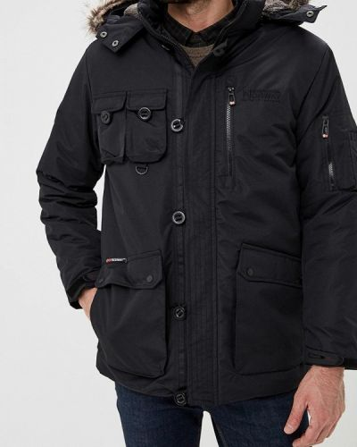 Зимняя куртка утепленная черная Geographical Norway
