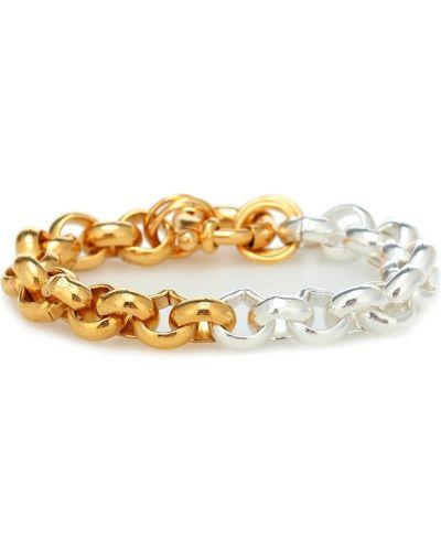 Серебряный золотой браслет металлический позолоченный Timeless Pearly