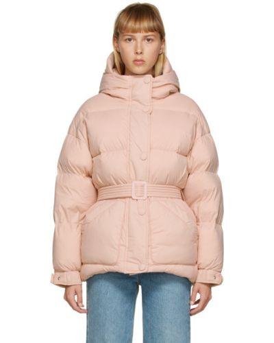Розовая нейлоновая стеганая куртка двусторонняя с манжетами Ienki Ienki