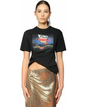 Рубашка асимметричная с принтом Paco Rabanne