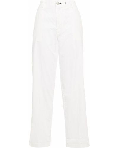 Białe spodnie w paski bawełniane Rag & Bone