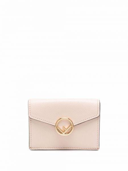 Кожаный кошелек - розовый Fendi