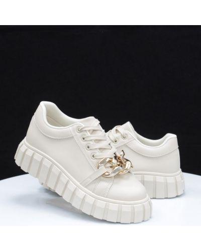 Кожаные туфли - бежевые Horoso