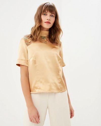 Блузка с коротким рукавом золотой Glam Goddess