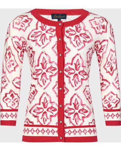 Красная кофта на пуговицах из вискозы Luisa Spagnoli
