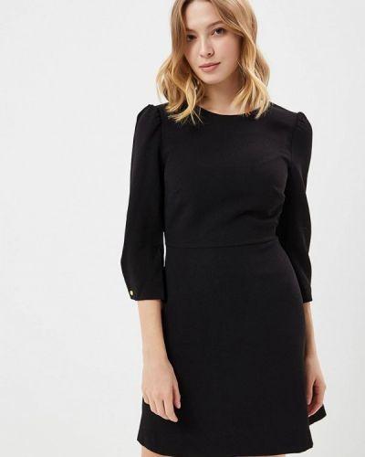 Платье осеннее черное Warehouse
