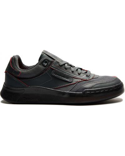 Серые мягкие кожаные кроссовки Reebok