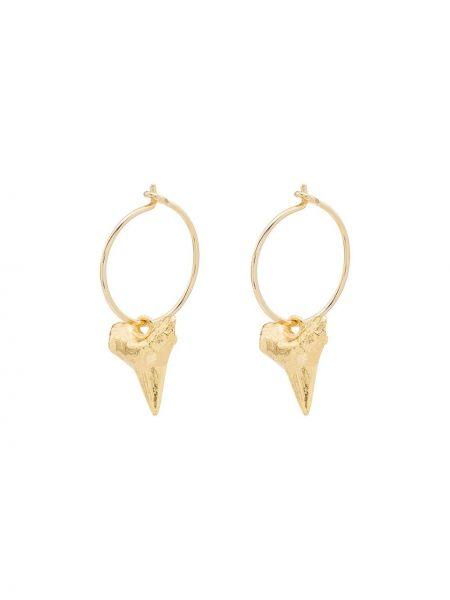 Золотистые желтые серьги-кольца позолоченные Anni Lu