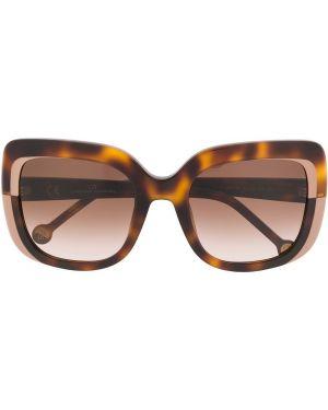 Муслиновые солнцезащитные очки квадратные хаки Ch Carolina Herrera
