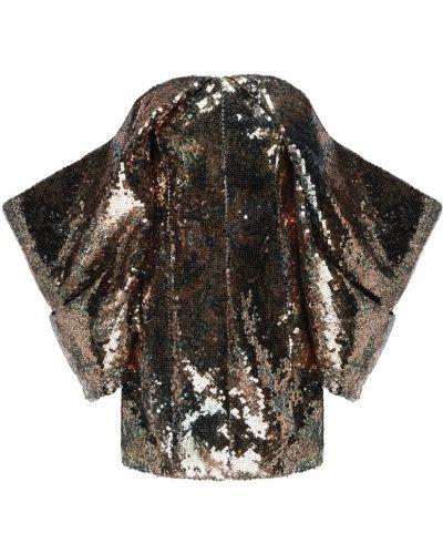 Платье мини со складками с открытыми плечами Halpern