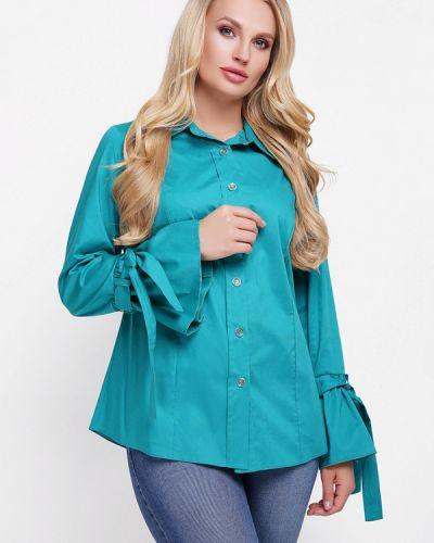 Блузка бирюзовая весенний Vlavi