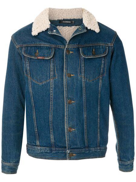 Прямая классическая синяя джинсовая куртка на пуговицах à La Garçonne