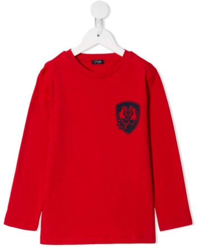 Прямая красная футболка с длинными рукавами Il Gufo