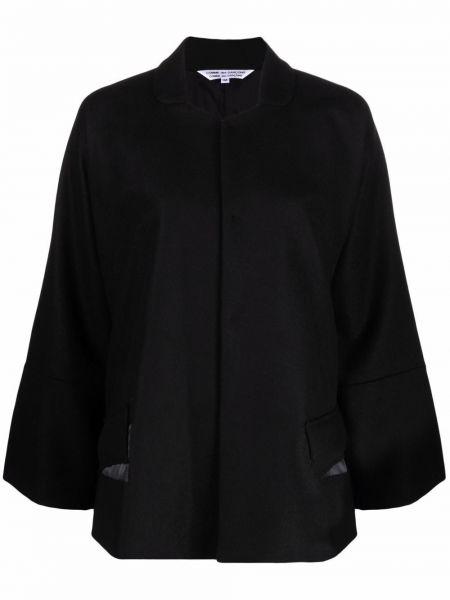 Шерстяное пальто - черное Comme Des Garçons Comme Des Garçons