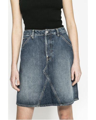 Джинсовая юбка на пуговицах карандаш G-star Raw