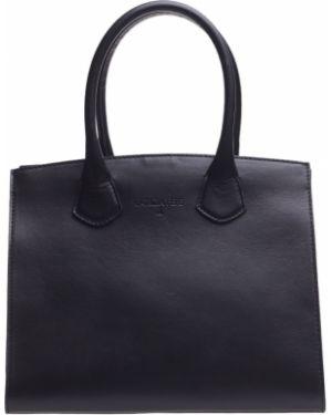 Кожаная сумка - черная Patrizia Pepe
