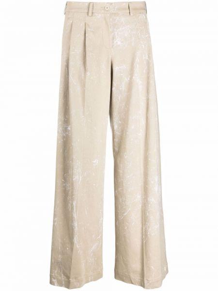 Хлопковые белые брюки стрейч Jejia