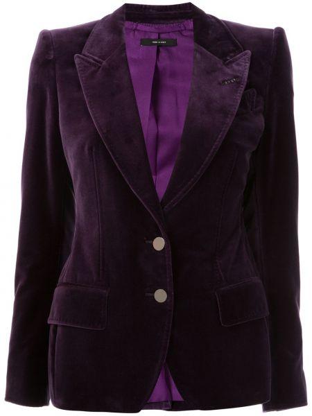 Фиолетовый шелковый пиджак с карманами Tom Ford