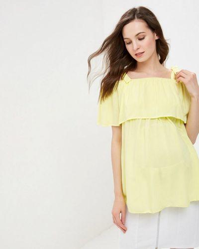Блузка - желтая мамуля красотуля ..в ожидании чуда