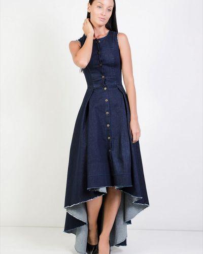 Джинсовое платье - синее Kriza