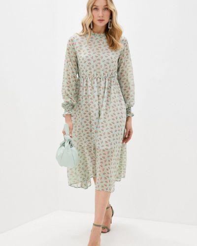 Прямое зеленое платье А-силуэта Imocean