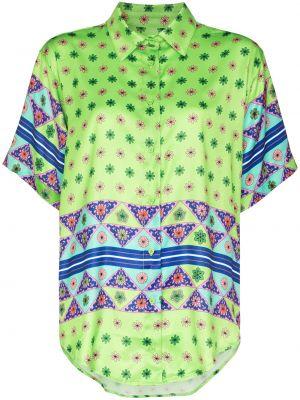 Зеленая рубашка с принтом Frankie's Bikinis