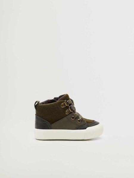 Ботинки на шнуровке - коричневые Mango Kids