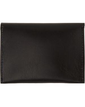 Кожаный черный кожаный кошелек Cherevichkiotvichki