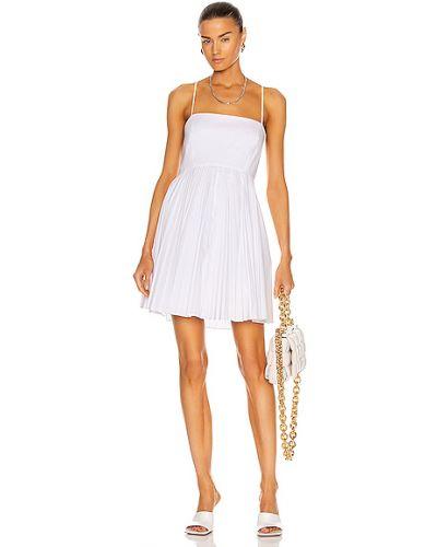 Хлопковое белое платье мини с подкладкой Jonathan Simkhai