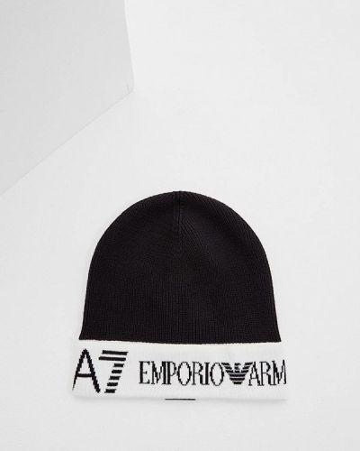 Черная шапка осенняя Ea7