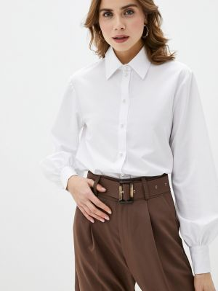 Блузка с длинным рукавом белая весенний Imocean