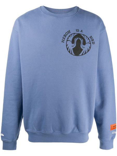 Wyposażone bawełna niebieski bluza z mankietami Heron Preston