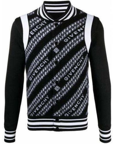 Czarna kurtka wełniana Givenchy