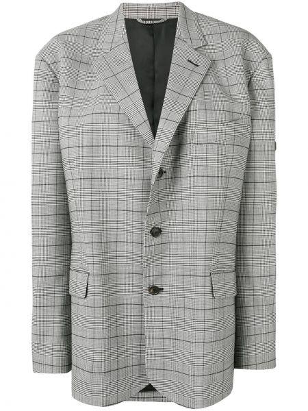 Пиджак серый в клетку Balenciaga