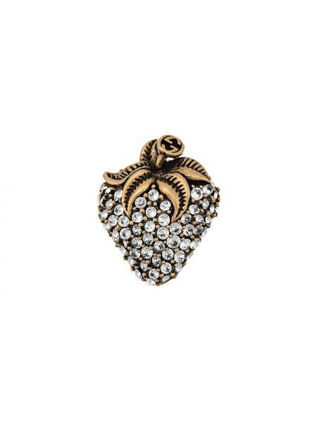 Szara broszka ze srebra srebrna Gucci