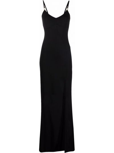 Czarna sukienka z dekoltem w serek Murmur