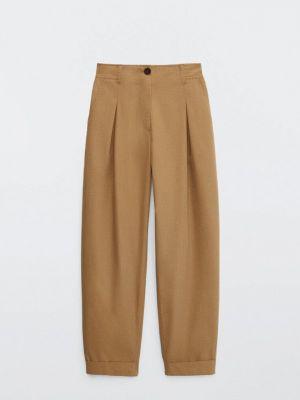 Бежевые брюки осенние Massimo Dutti