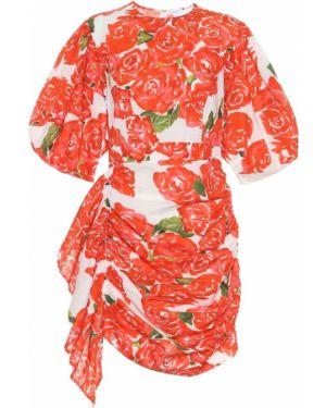Летнее платье мини с цветочным принтом Rhode