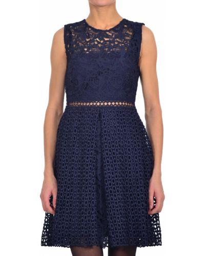 Платье осеннее синее Pinko