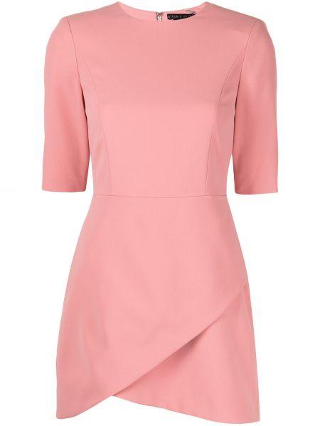 Приталенное розовое платье мини с короткими рукавами Alice+olivia