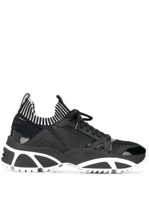 Кожаные кроссовки - черные Michael Kors